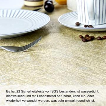 WELTRXE Tischläufer, Wiederverwendbaren Dekostoff aus Polyesterfabern Sicherer Tischband in Vielen Farben zur Dekoration 23cm × 15m Golden Hochzeit Tischdeko auch Ostern Festival Geschenkband - 3