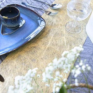 WELTRXE Tischläufer, Wiederverwendbaren Dekostoff aus Polyesterfabern Sicherer Tischband in Vielen Farben zur Dekoration 23cm × 15m Golden Hochzeit Tischdeko auch Ostern Festival Geschenkband - 6