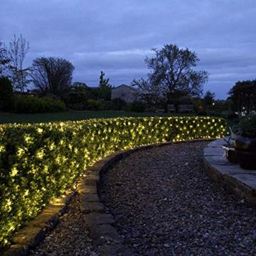 WOWDSGN 200 LED Lichternetz 3 x 2 m warmweiß Lichterkette Netz mit Fernbedienung Trafo Timer 8 Modi Lichtketten für Weihnachten, Halloween, Party, Geburstag, Hochzeit Geeignet für Innen und Außen - 6