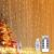 Yizhet Lichtervorhang 3x3m LED Lichterkette LED Lichterkettenvorhang mit 8 Modi, 300LEDs, IP65 Wasserdicht Deko für Weihnachten, Partydekoration, Innenbeleuchtung (Warm White) - 1