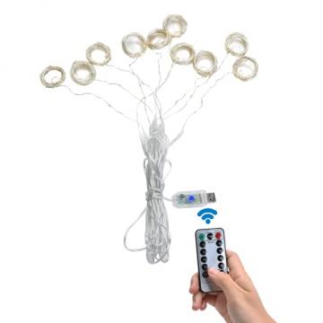 Yizhet Lichtervorhang 3x3m LED Lichterkette LED Lichterkettenvorhang mit 8 Modi, 300LEDs, IP65 Wasserdicht Deko für Weihnachten, Partydekoration, Innenbeleuchtung (Warm White) - 9