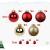 Yorbay Weihnachtskugeln 44er Set Christbaumkugeln aus Glas mit Aufhänger, Weihnachtsdeko für Weihnachten, Weihnachtsbaum, Tannenbaum, Christmasbaum(Mehrweg) (Rot+Gold) - 2