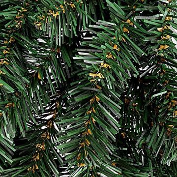 ZHENGXIN Klassischer Türkranz,Tannenkranz,60cm Weihnachtskranz künstliche handgemachte Kranz Fenstertür Anhänger Innen- und Außendekoration - 3