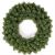 ZHENGXIN Klassischer Türkranz,Tannenkranz,60cm Weihnachtskranz künstliche handgemachte Kranz Fenstertür Anhänger Innen- und Außendekoration - 1