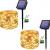 [2 Stücke] Usboo® Solar Lichterkette, 150 warmweiße LEDs 15 Meter für Außen& Innen mit wasserdichten Kupferdrähten für Dekorationen, Feste, Garten, Balkons, Partys, Hochzeiten, Camping, DIY usw. - 1