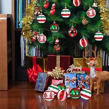 30 Stück Weihnachtskugeln,6cm Weihnachtskugeln Baumschmuck Christbaumkugeln Baumschmuck Christbaumschmuck Christbaumkugeln Set Christbaumkugeln Kugel Christbaumschmuck für Weihnachtsdekorationen - 5