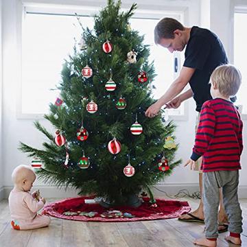 30 Stück Weihnachtskugeln,6cm Weihnachtskugeln Baumschmuck Christbaumkugeln Baumschmuck Christbaumschmuck Christbaumkugeln Set Christbaumkugeln Kugel Christbaumschmuck für Weihnachtsdekorationen - 6