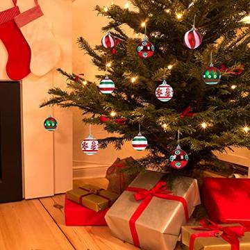 30 Stück Weihnachtskugeln,6cm Weihnachtskugeln Baumschmuck Christbaumkugeln Baumschmuck Christbaumschmuck Christbaumkugeln Set Christbaumkugeln Kugel Christbaumschmuck für Weihnachtsdekorationen - 7