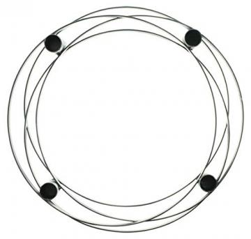"""4er Kerzenhalter """"Modern"""" aus Metall, runder, Schlichter Advent-Kernzenständer, Adventskranz - 3"""