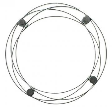 """4er Kerzenhalter """"Modern"""" aus Metall, runder, Schlichter Advent-Kernzenständer, Adventskranz - 4"""