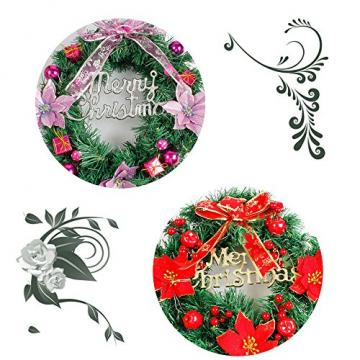 About1988 Weihnachten kränze Weihnachtsdeko Türkranz Kranz Dekokranz Weihnachten Garland, Weihnachtskranz für Deko, Weihnachten, Advent, als Stimmungslicht, Türkranz (Lila) - 2