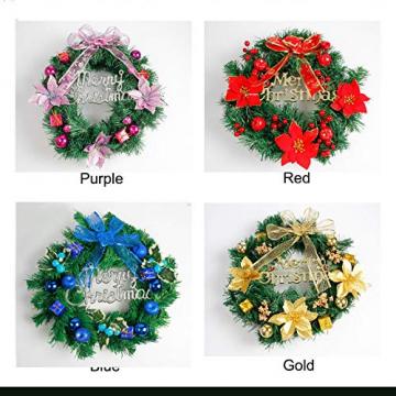 About1988 Weihnachten kränze Weihnachtsdeko Türkranz Kranz Dekokranz Weihnachten Garland, Weihnachtskranz für Deko, Weihnachten, Advent, als Stimmungslicht, Türkranz (Lila) - 3