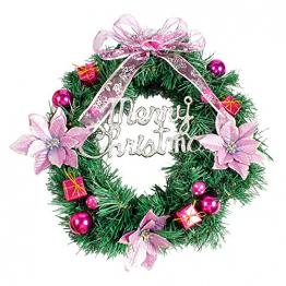 About1988 Weihnachten kränze Weihnachtsdeko Türkranz Kranz Dekokranz Weihnachten Garland, Weihnachtskranz für Deko, Weihnachten, Advent, als Stimmungslicht, Türkranz (Lila) - 1