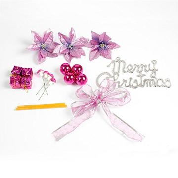 About1988 Weihnachten kränze Weihnachtsdeko Türkranz Kranz Dekokranz Weihnachten Garland, Weihnachtskranz für Deko, Weihnachten, Advent, als Stimmungslicht, Türkranz (Lila) - 4
