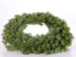 artplants.de Türkranz Douglas Tannenkranz Claus, grün, Ø 75cm - Künstlicher Kranz - 1