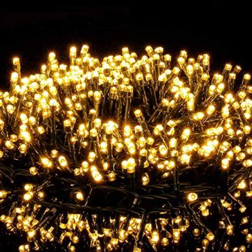 Avoalre 2000er led Lichterkette 50M Weihnachtsbeleuchtung Außen Lichterkette, 8 Modi IP44 Wasserdicht Lichterkette für Weihnachten Garten Party Geburtstag Hochzeit, Warmweiß Lichterkette - 1