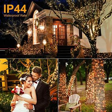Avoalre 2000er led Lichterkette 50M Weihnachtsbeleuchtung Außen Lichterkette, 8 Modi IP44 Wasserdicht Lichterkette für Weihnachten Garten Party Geburtstag Hochzeit, Warmweiß Lichterkette - 5