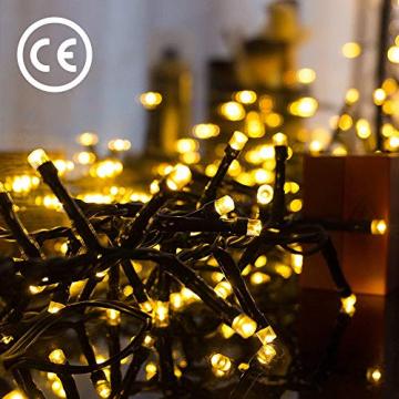 Avoalre 2000er led Lichterkette 50M Weihnachtsbeleuchtung Außen Lichterkette, 8 Modi IP44 Wasserdicht Lichterkette für Weihnachten Garten Party Geburtstag Hochzeit, Warmweiß Lichterkette - 8