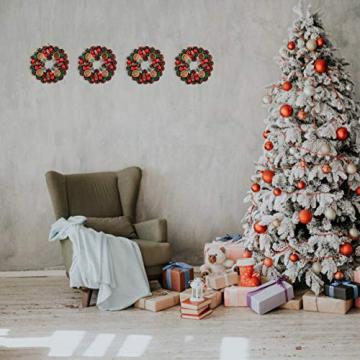 BESPORTBLE 27Cm Weihnachten Advent Kranz Tannenzapfen Kranz mit Beeren Advent Kränze Ring Votiv Kerzenhalter Saison Kerzenhalter Weihnachten Tisch Herzstück Desktop-Dekoration - 5