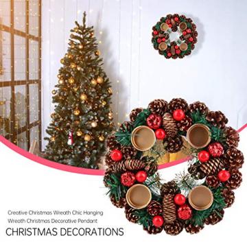 BESPORTBLE 27Cm Weihnachten Advent Kranz Tannenzapfen Kranz mit Beeren Advent Kränze Ring Votiv Kerzenhalter Saison Kerzenhalter Weihnachten Tisch Herzstück Desktop-Dekoration - 7
