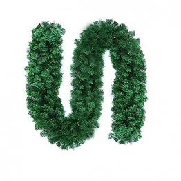 CHEYLIZI Weihnachtsgirlande Grün Künstliche Tannengirlande 2,7m Girlande Weihnachten Tanne Weihnachtsdeko für Aussen und Innen Deko für Weihnachten, Treppengeländer - 1