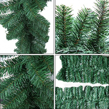 CHEYLIZI Weihnachtsgirlande Grün Künstliche Tannengirlande 2,7m Girlande Weihnachten Tanne Weihnachtsdeko für Aussen und Innen Deko für Weihnachten, Treppengeländer - 4