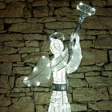 DECOLED Weihnachtsbeleuchtung Engel LED für Außen, 3D, kaltweiß, hohe Qualität - 5