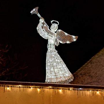 DECOLED Weihnachtsbeleuchtung Engel LED für Außen, 3D, kaltweiß, hohe Qualität - 6