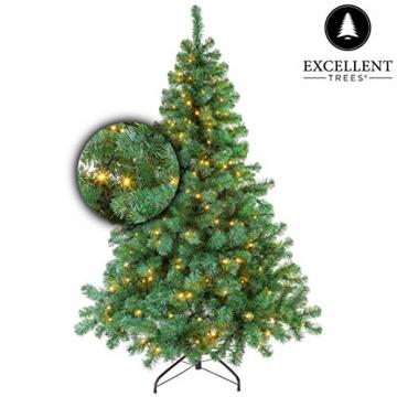 Excellent Trees Künstlicher Weihnachtsbaum Tannenbaum Christbaum Grün LED Stavanger Green 180 cm mit Beleuchtung, 350 Lämpchen Beleuchtet, Luxe Kuenstlicher Christbaum - 2