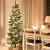 FAIRYTREES künstlicher Weihnachtsbaum Slim, Fichte Natur, grüner Stamm, Material PVC, inkl. Holzständer, 150cm, FT12-150 - 3
