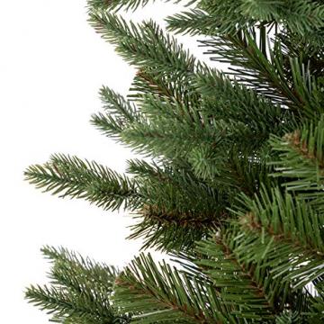 FairyTrees Weihnachtsbaum künstlich NORDMANNTANNE Edel, Material PU und PVC, inkl. Holzständer, FT25-180 - 2