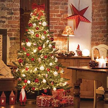 FairyTrees Weihnachtsbaum künstlich NORDMANNTANNE Edel, Material PU und PVC, inkl. Holzständer, FT25-180 - 3
