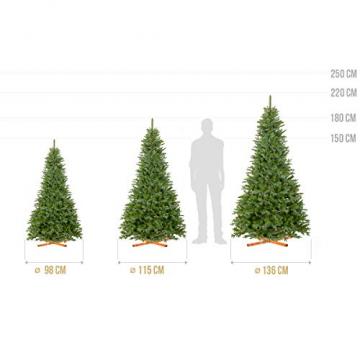 FairyTrees Weihnachtsbaum künstlich NORDMANNTANNE Edel, Material PU und PVC, inkl. Holzständer, FT25-180 - 5