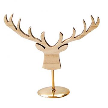 Fenteer Hirsch Deko Figur Dekohirsch Ohrringe Schmuckständer Kettenständer Tischdeko Weihnachten Tierdekoration - 2
