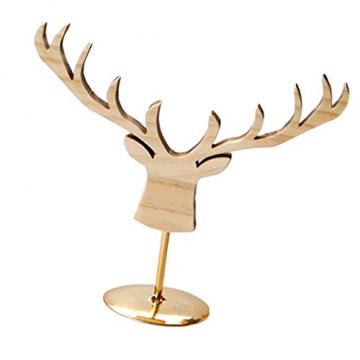 Fenteer Hirsch Deko Figur Dekohirsch Ohrringe Schmuckständer Kettenständer Tischdeko Weihnachten Tierdekoration - 4