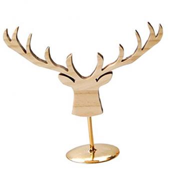 Fenteer Hirsch Deko Figur Dekohirsch Ohrringe Schmuckständer Kettenständer Tischdeko Weihnachten Tierdekoration - 5