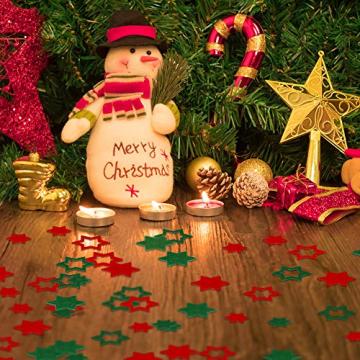 FHzytg 120 Stück Filz Sterne, Tischdeko Weihnachten Filz Weihnachten Sterne Filz, Filz Sterne Weihnachten Streudeko Sterne Filz, Weihnachtsdeko Tischdeko Streudeko Sterne Filz Weihnachten - 5