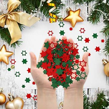 FHzytg 120 Stück Filz Sterne, Tischdeko Weihnachten Filz Weihnachten Sterne Filz, Filz Sterne Weihnachten Streudeko Sterne Filz, Weihnachtsdeko Tischdeko Streudeko Sterne Filz Weihnachten - 7