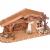 Geschenkestadl Holzhaus Krippe 33 cm x 13 cm Modellhaus - 2