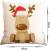 HIQE-FL 4 Stück Weihnachten Dekokissen,Sofakissen Hirsch,Weihnachts Kissenbezüge,Kissenbezüge Frohe Weihnachten für Sofa Auto Büro Bett Zuhause Wohnzimmer - 2