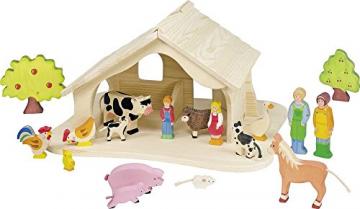 Holztiger Puppenhaus mit Weihnachtsstern (ohne Figuren, ohne Bäume) - 3