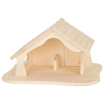 Holztiger Puppenhaus mit Weihnachtsstern (ohne Figuren, ohne Bäume) - 5