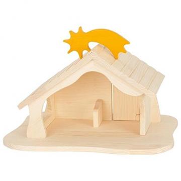Holztiger Puppenhaus mit Weihnachtsstern (ohne Figuren, ohne Bäume) - 8
