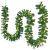 Juskys Weihnachtsgirlande 5m künstlich mit Beleuchtung – Lichterkette mit 100 LED warm-weiß IP44 - Tannengirlande für Innen & Außen – Weihnachtsdeko - 1