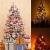 JYHZ Weihnachtsdekoration, Schneeflocke/Beflockung Weihnachtsbaum, Hochwertige Kunst Weihnachten Kiefer Mit Reißverschluss-Dekorationen, Mit LED Lichter Und Dekorationen 600 Tip-grün 6 Feet (180 cm) - 4