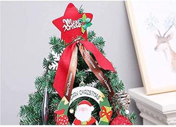 JYHZ Weihnachtsdekorationen, künstliche Weihnachtsbaumdekorationen, Fichte angelenkter Weihnachtsbaum mit Metallhalterungen, geeignet for den Innenhof (Farbe: rot, Größe: 6 Fuß (180 cm)) - 4
