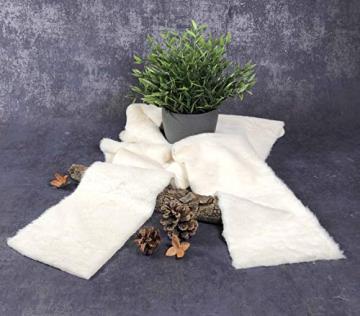 Kreaboo Fellband Kunstfell Tischband Tischläufer Dekoband Fell für Weihnachten Dekoration Basteln (15cm x 2m – Weiß) - 4