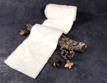Kreaboo Fellband Kunstfell Tischband Tischläufer Dekoband Fell für Weihnachten Dekoration Basteln (15cm x 2m – Weiß) - 5