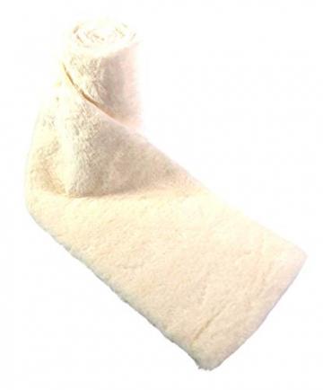 Kreaboo Fellband Kunstfell Tischband Tischläufer Dekoband Fell für Weihnachten Dekoration Basteln (15cm x 2m – Weiß) - 6