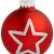 Krebs & Sohn 20er Set Glas Christbaumkugeln-Weihnachtsbaum Deko zum Aufhängen-Weihnachtskugeln 5,7 cm-Bordeaux, Rot/Sterne, (5,7cm Ø Durchmesser) - 3